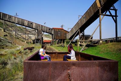 Train Tour at Atlas Coal Mine, East Coulee, Alberta
