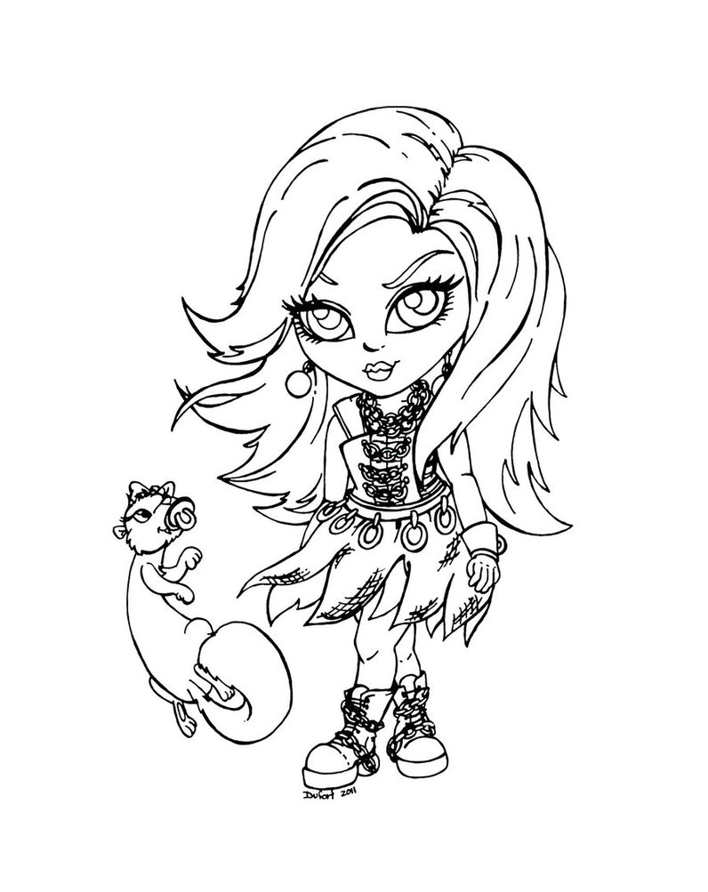 Dibujos Para Colorear De Spectra Vondergeist Monster High
