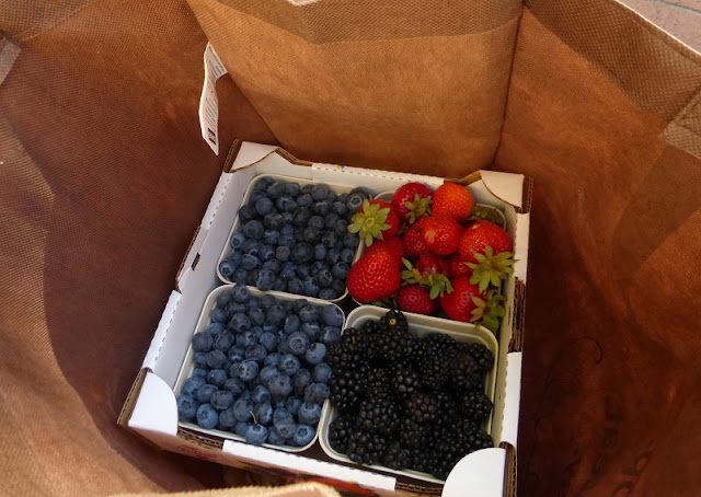 berries from portland farmers market