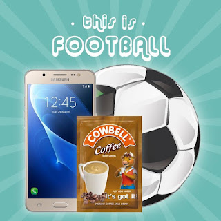 """Cowbell%2Bcoffee%2Bpromos Win Samsung galaxy J5 at""""This is Football with Cowbell Coffee"""" radio show"""