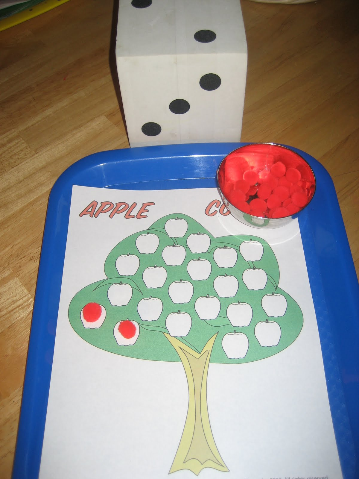 The Preschool Experiment Tot School Apple Trays