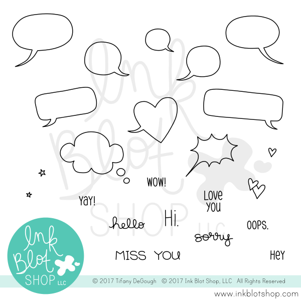 Ink Blot Shop Clear Stamp Set Tiny Bubbles