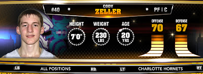 NBA 2K13 Hornets Cody Zeller - Round 1 Pick 4th Overall