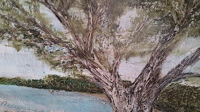 tree on beach painting