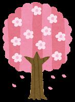 春の木のイラスト