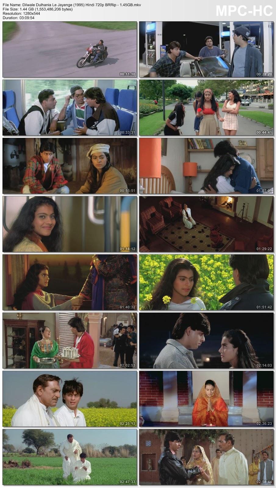 Dilwale Dulhania Le Jayenge (1995) Hindi 720p BRRip 1.45GB Desirehub