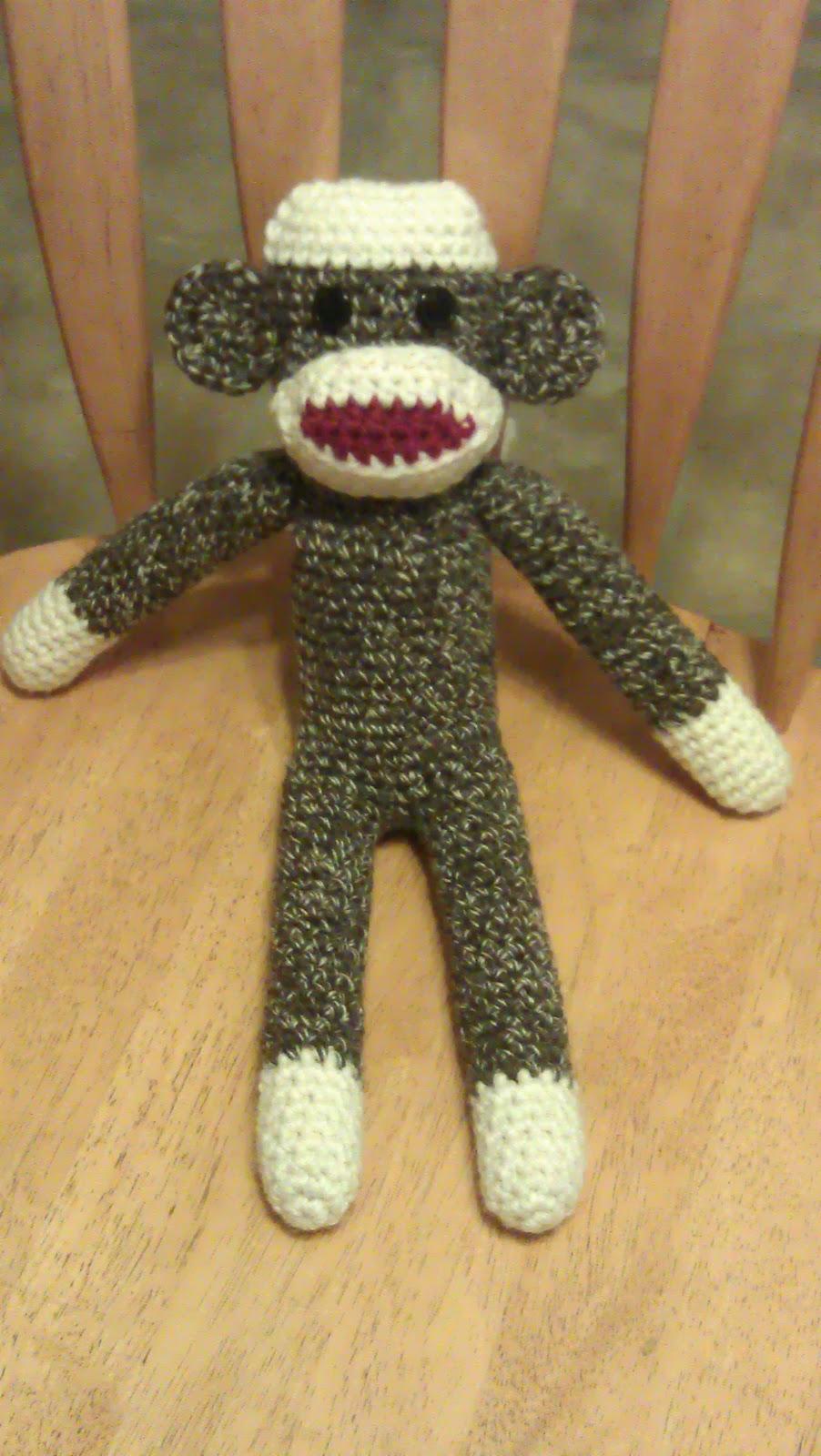 Spunky The Little Sock Monkey PDF Crochet Pattern | 1600x902