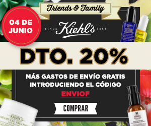 Friends & Family Day en Kiehl's: 20% de descuento!
