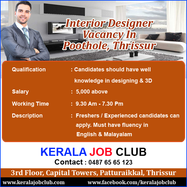 Interior Design Job Vacancies In Kerala Psoriasisgurucom