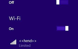 Solusi Mudah Mengatasi Limited Access Wifi di Windows 8.1