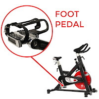 Toe-cage pedals on Sunny Health & Fitness SF-B1714 and SF-B1712 Indoor Cycle Spin Bikes