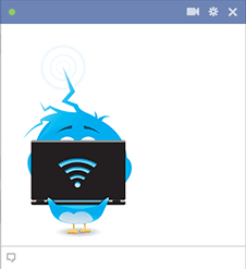 Bird on laptop icon