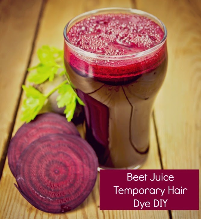 Beet Juice Temporary Hair Dye DIY