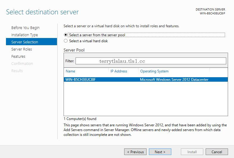 install dot net framework 3.5 on windows server 2012