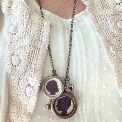 diy silhouette locket necklace