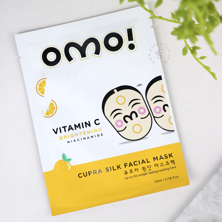 review omo cupra silk facial mask vitamin c