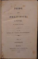 "The title page for ""Pride and Prejudice."""