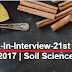 Walk-In-Interview-21st Dec. 2017 | Soil Science