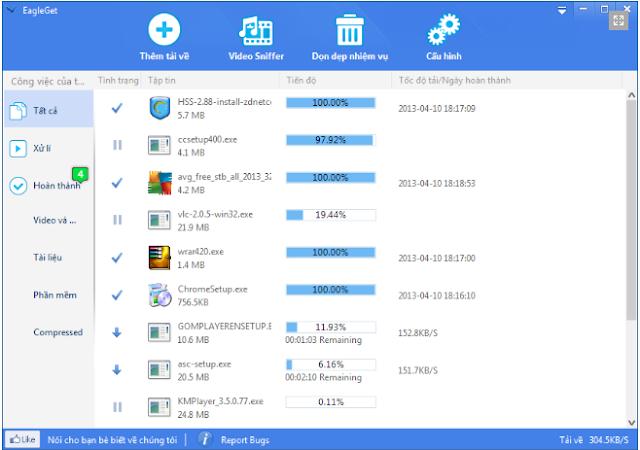 TOP 03 phần mềm hỗ trợ tải về mọi thứ trên internet với click chuột