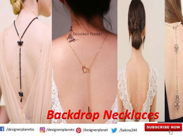 Bridal back drop necklace Designerplanet