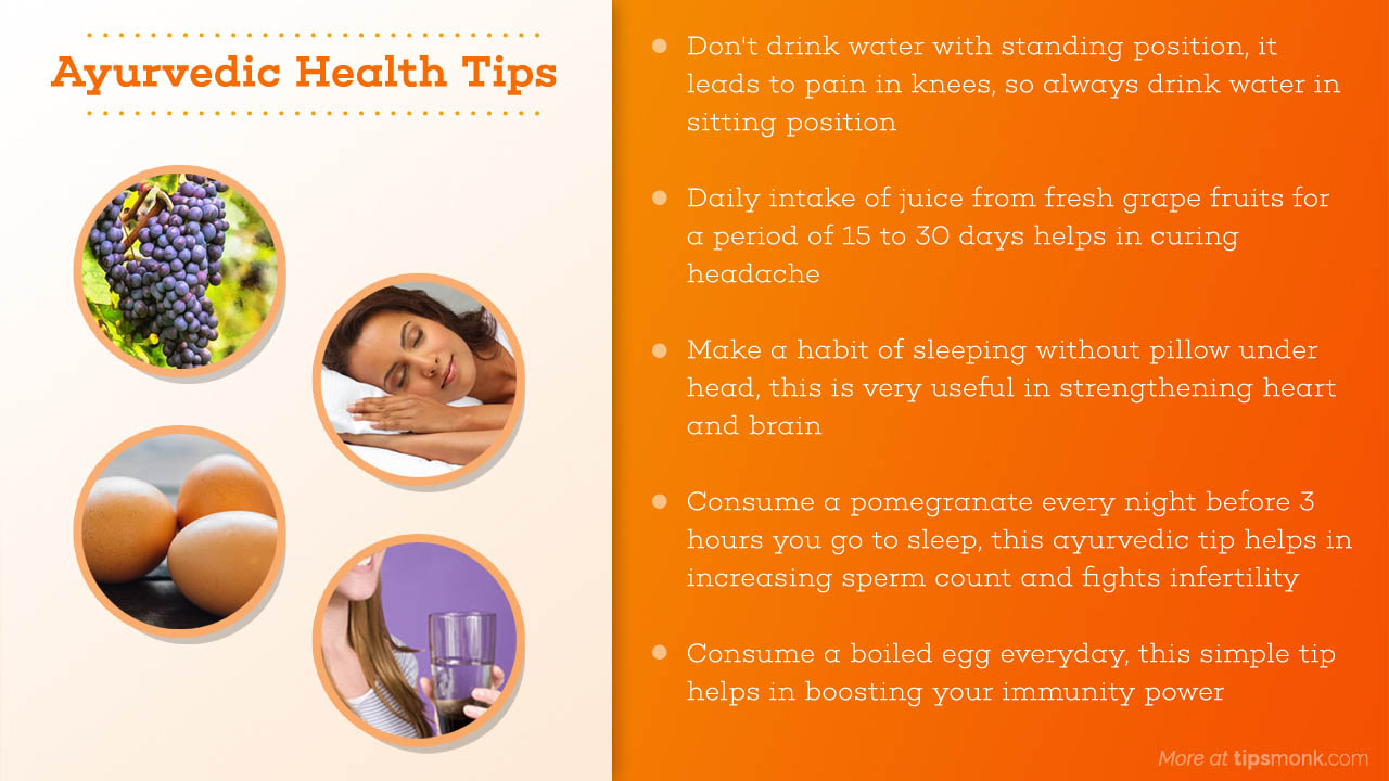 Ayurvedic health tips picture - Tipsmonk