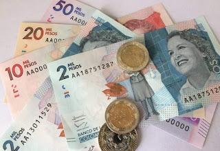 Billetes y monedas Colombia