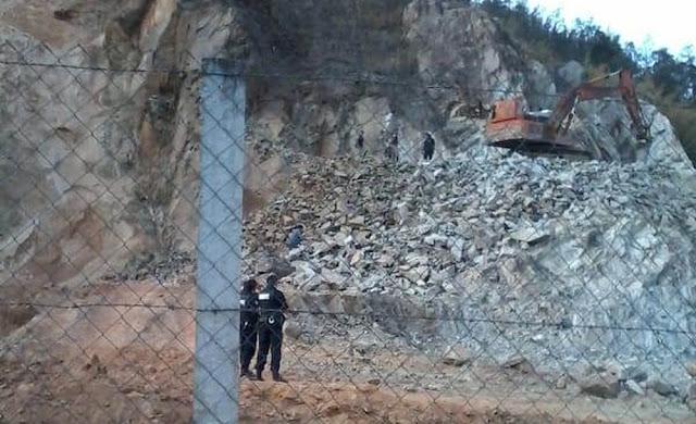 Operador de máquina morre ao ser soterrado por pedra em Itajubá (MG) (Foto: Reproduçaõ/Redes Sociais)