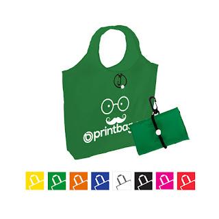Bolsas plegables personalizadas verdes