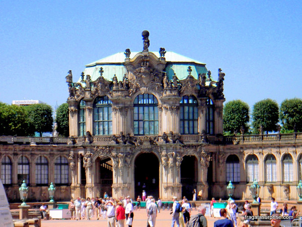 Entrada da Gemäldegalerie Alte Meister de Dresden