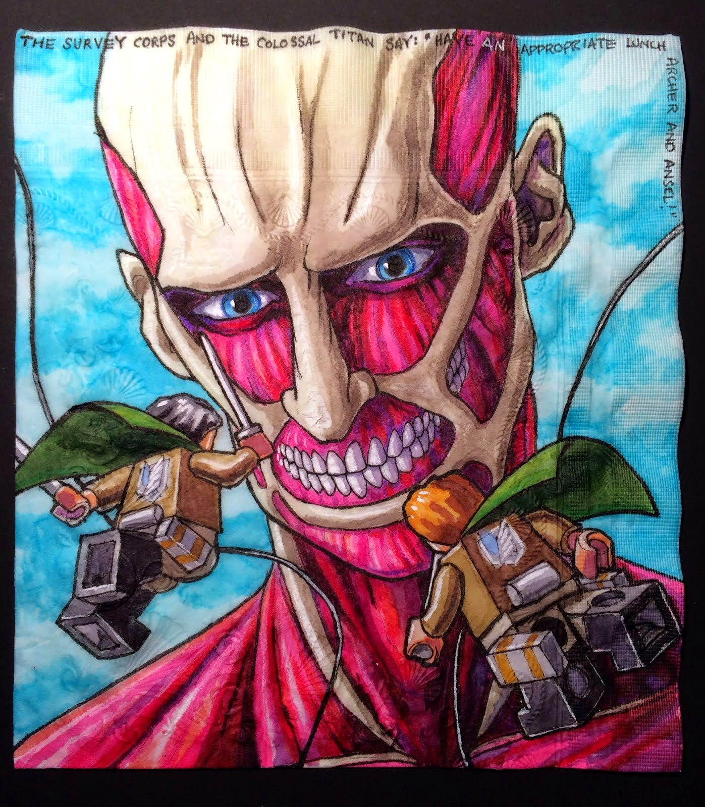 Daily Napkins: Attack on Colossal Titan by LEGO Survey Corp