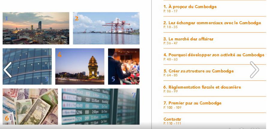 Cambodge ccifc publication entreprendre au cambodge for Chambre de commerce cambodge