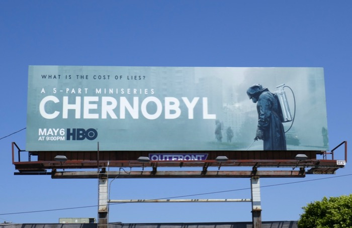Chernobyl series launch billboard