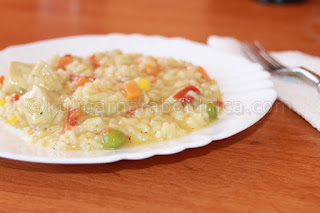 Рецепта за ризото с пилешко филе и зеленчуци