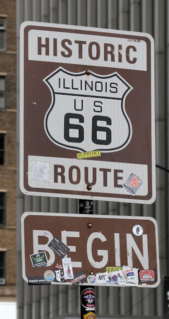 Begin Route 66 Sign