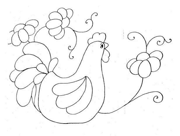 Dibujos De Gallinas Para Colorear E Imprimir: Moldes De Gallinas Para Imprimir