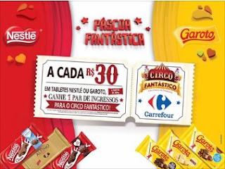 Promoção Páscoa 2017 Carrefour Páscoa Fantástica Ingressos Circo
