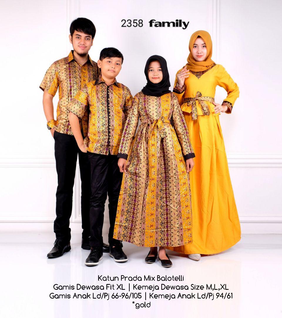 Baju Couple Batik Keluarga Untuk Lebaran Gambar Islami