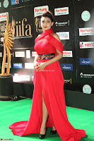 Apoorva in a Stunning Tight Leg Split Sleeveless Red Gown at IIFA Utsavam Awards 62.JPG