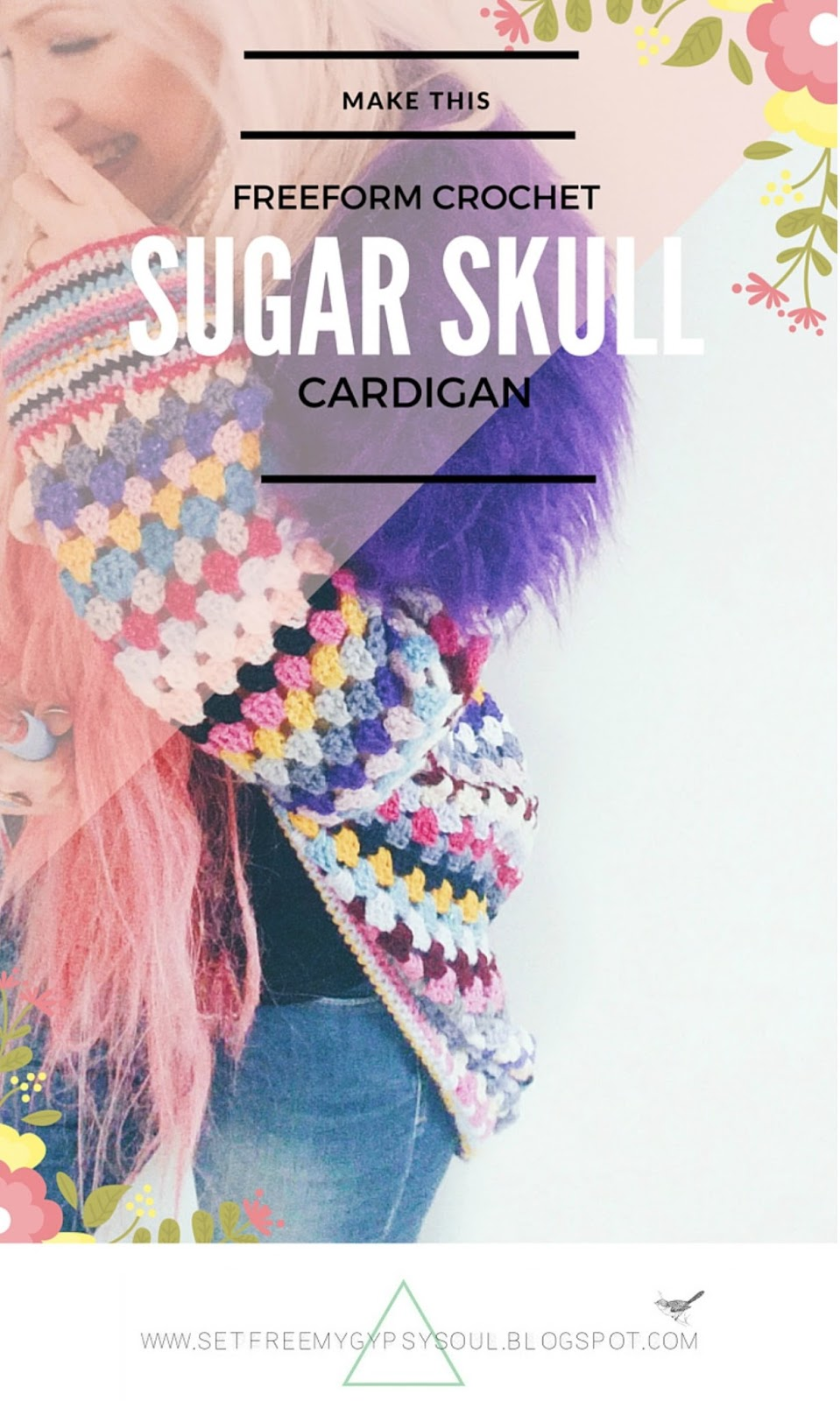 a5b2b070c7fd free freeform crochet sugar skull cardigan pattern