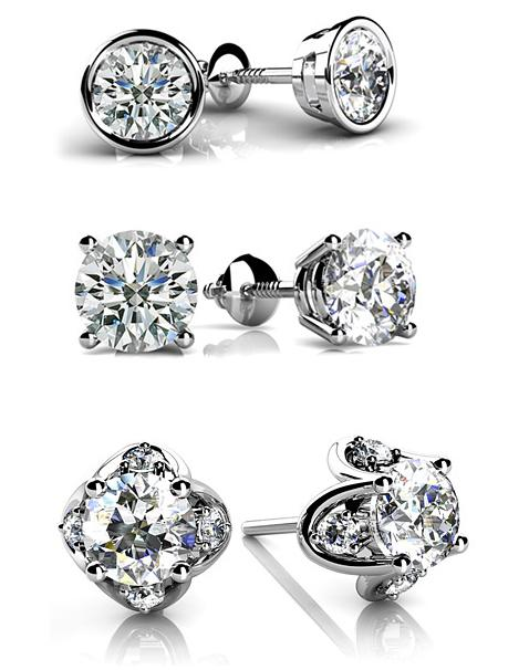 Savvy Mode Team Cer Diamond Earrings Vs Solitaire