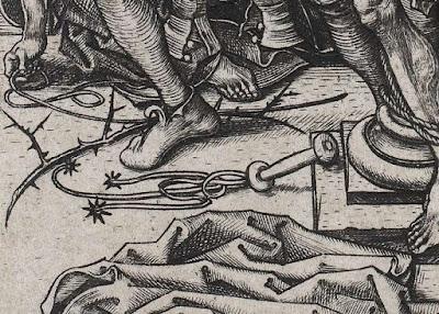 flagelacion azote latigo medieval martin schongauer