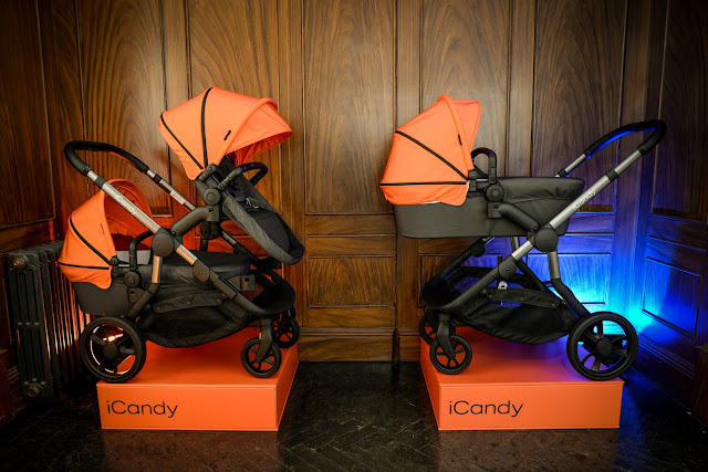 iCandy orange, new iCandy pushchair, double pushchair, double stroller