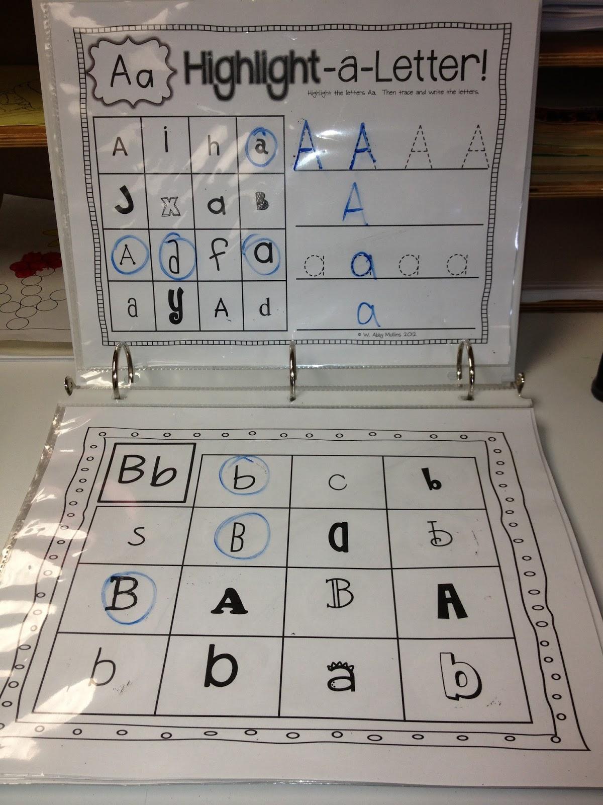 Preschool Writing Center: Kindergarten Writing Center