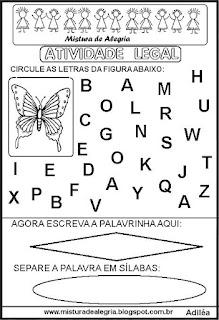 Atividade legal de alfabetização B