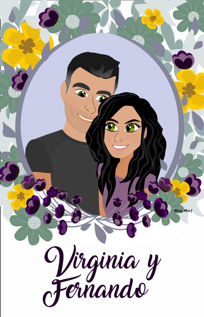 invitaciones de boda ilustradas | Miss Mint