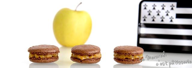 Macarons aux pommes au caramel beurre salé