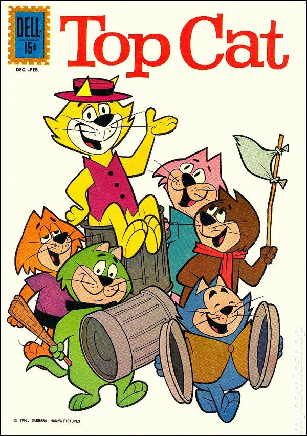 Portada de un cómic de don Gato (Top Cat)