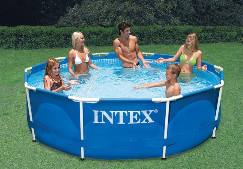 Stephen Iestern: Above Ground Pool Reviews: Intex Metal Frame Pool Set