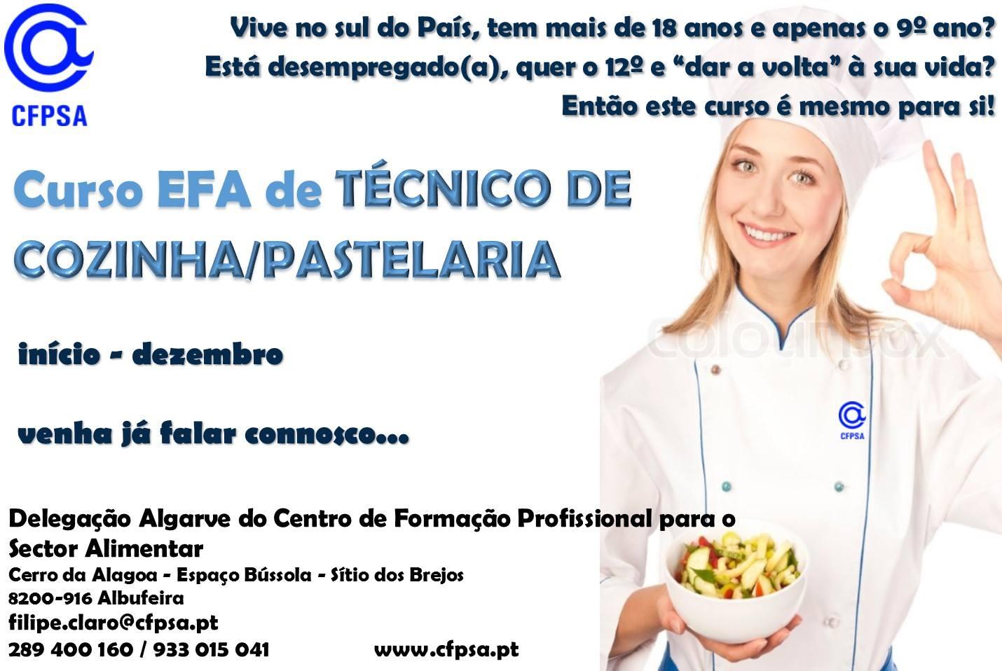 curso efa de cozinha e pastelaria - Albufeira