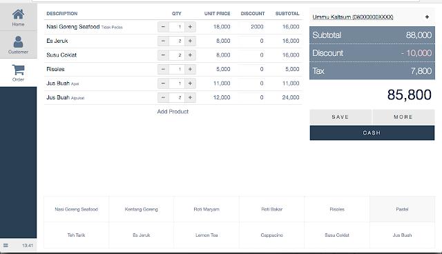 screenshot aplikasi pos berbasis web gratis dan open source